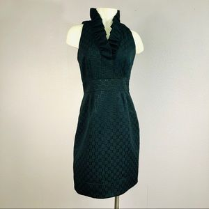 Marc Jacobs Quilted Ruffle Black Dress Size S